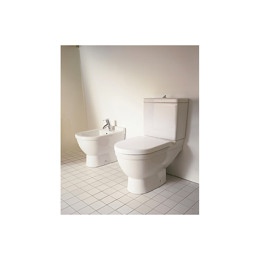 Duravit Starck 3 Gulvstående toalett Med sisterne og myktlukkende sete/lokk