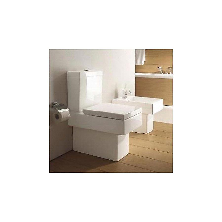 Duravit Vero Gulvstående toalett Med sisterne og myktlukkende sete/lokk