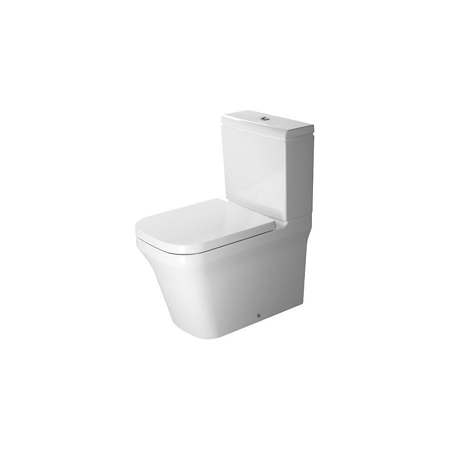 Duravit P3 Comforts Gulvstående toalett 380x650 mm Hvit Wondergliss