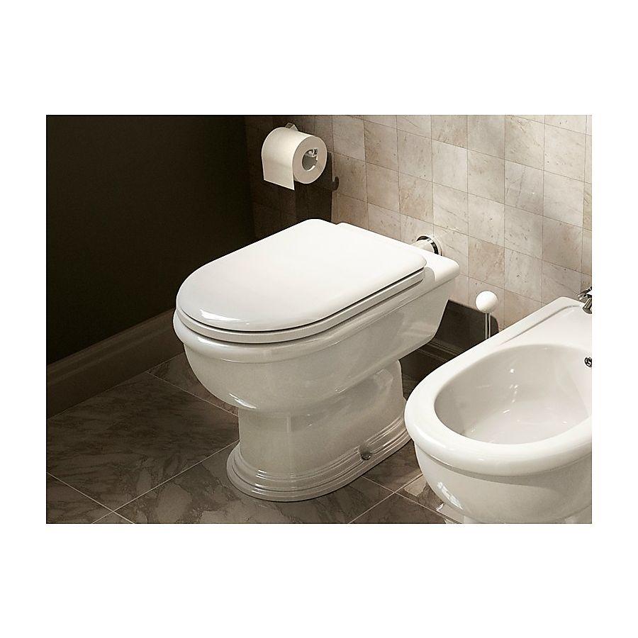 Flaminia Fidia Gulvstående toalett 370x570 mm Med S-lås Hvit