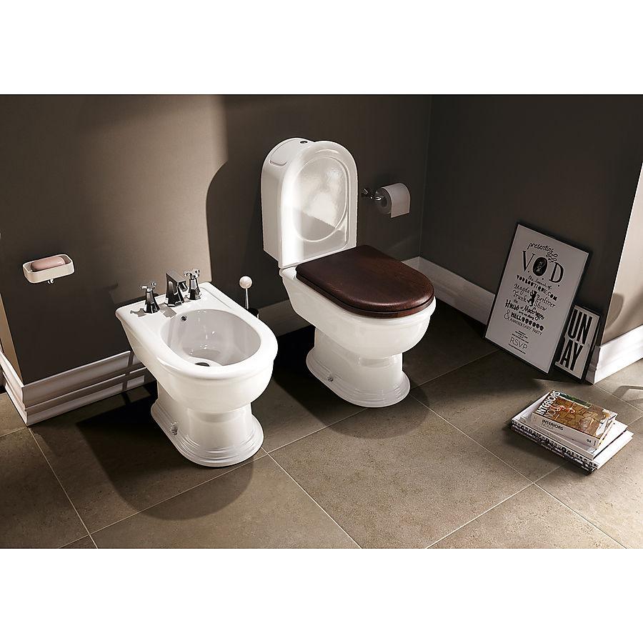 Flaminia Fidia Gulvstående toalett 355x750 mm Med S-lås Hvit