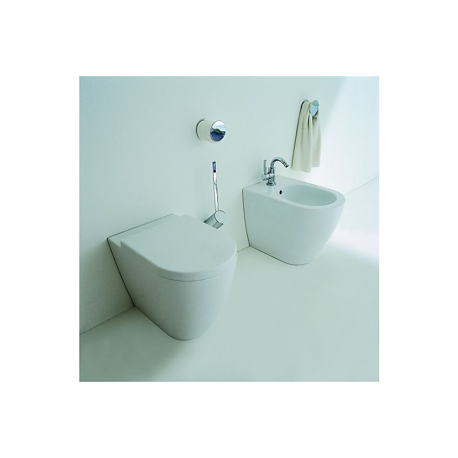 Flaminia Link Gulvstående toalett 360x560 mm Sort