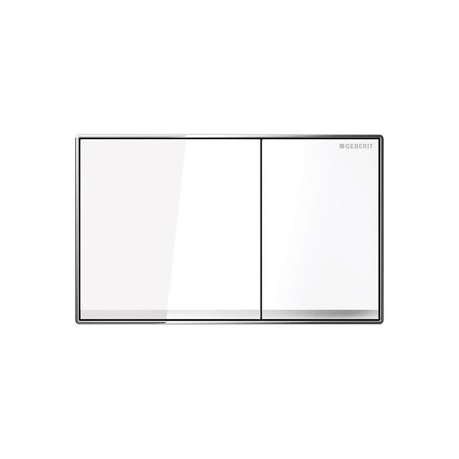 Geberit Sigma 60 Betjeningsplate Hvit glass