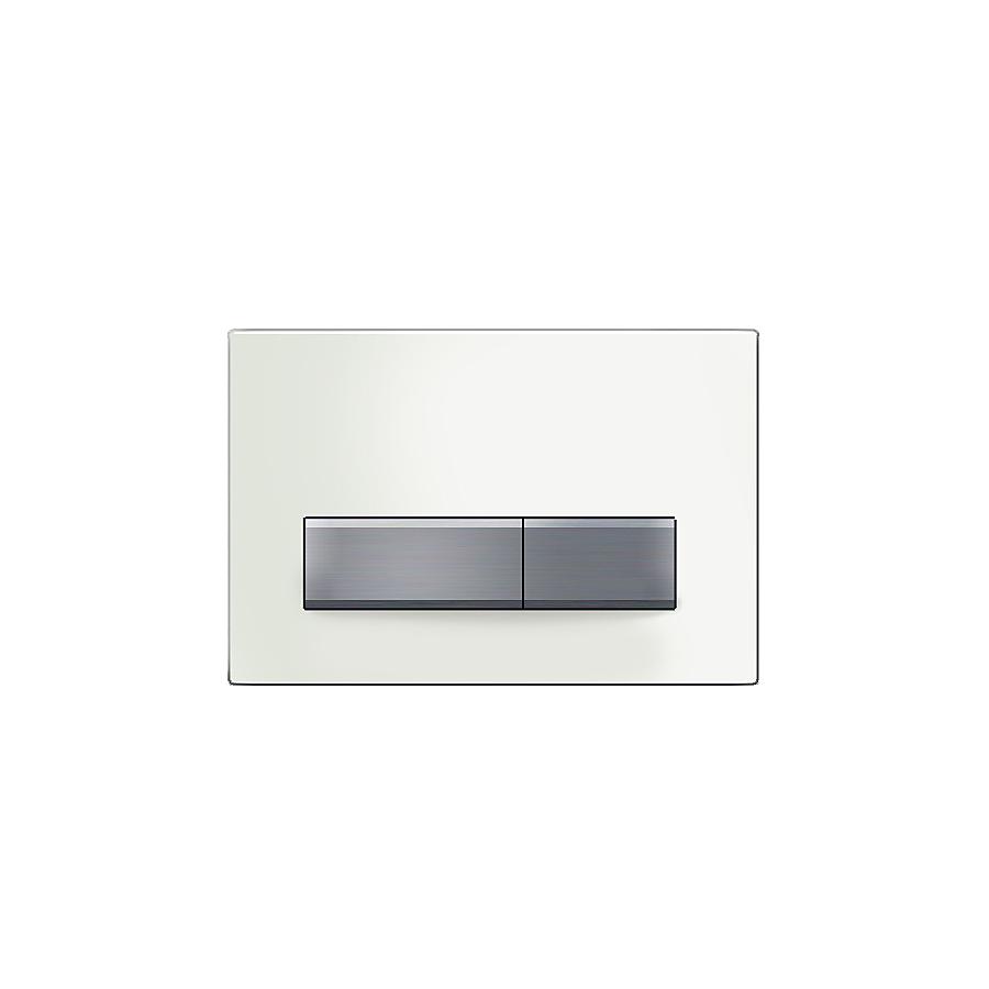 Geberit Sigma 50 Betjeningsplate Hvitt glass