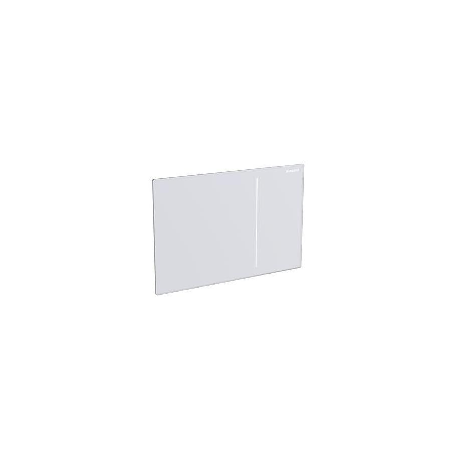 Geberit Sigma 70 Betjeningsplate Hvitt glass