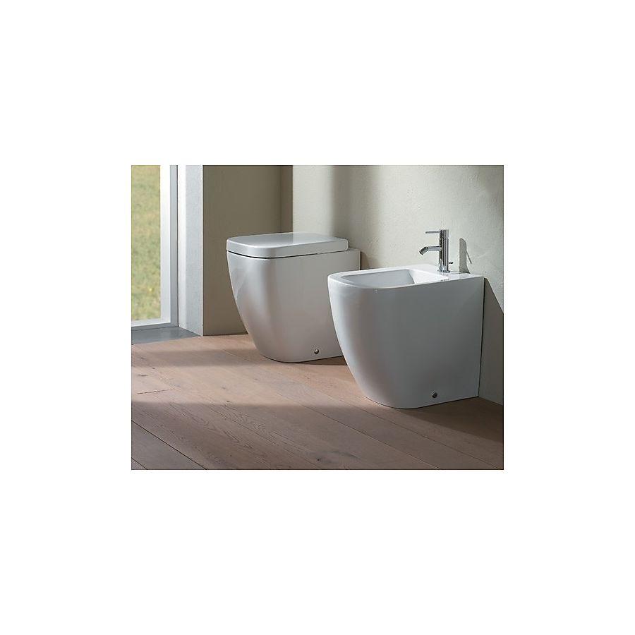 Globo Stone Gulvstående toalett 450x360 mm compact modell Sort Matt