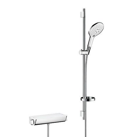 27037400 Hansgrohe  Hansgrohe Ecostat Select dusjpakke 900 mm, Hvit/Krom