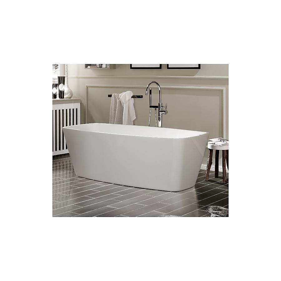 Knief Cube Frittstående badekar 1700x800 mm. Inkl. av- og overløpsett