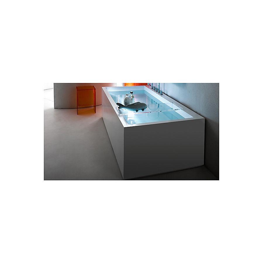 Laufen Kartell Badekar for innbygging 1700x860 mm. m/LED lys Ryggstøtte høyre