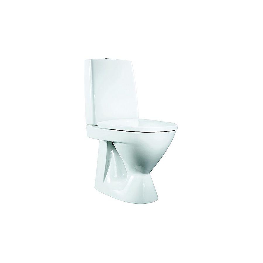 Porsgrund Seven D Gulvstående toalett 650x360 mm. Med S-lås