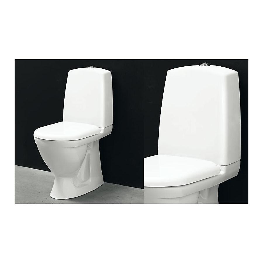Svedbergs WC 9085 Gulvstående toalett 655x870 mm m/myktlukkende sete og lokk
