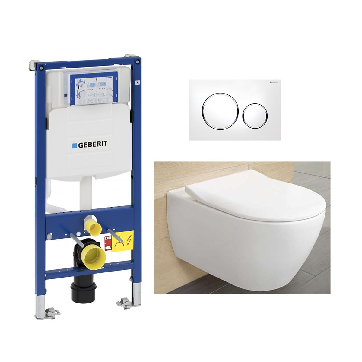 #100009   V&B Subway 2.0 Direct Flush Toalettpakke Inkl. sete/lokk, sisterne og trykkplate.