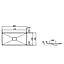 2230000000 Alape EB.KF800 Alape Crystalline, Tvättställ 800x400 mm, för bänskiva / möbel