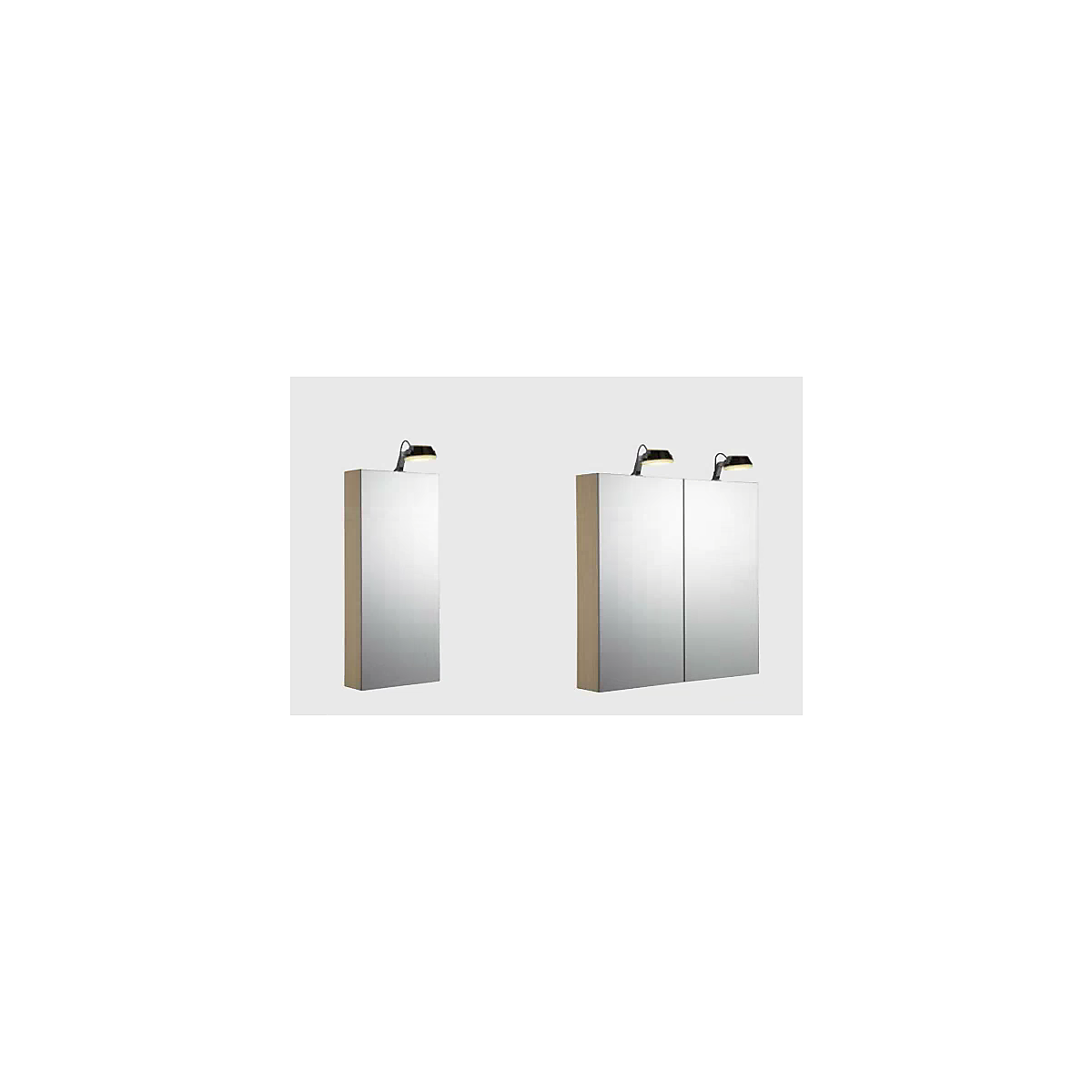 2805144378U   Dansani Calidris Spegelskåp m/ belysning 600x800 mm, m/underlight, Ljus Ek