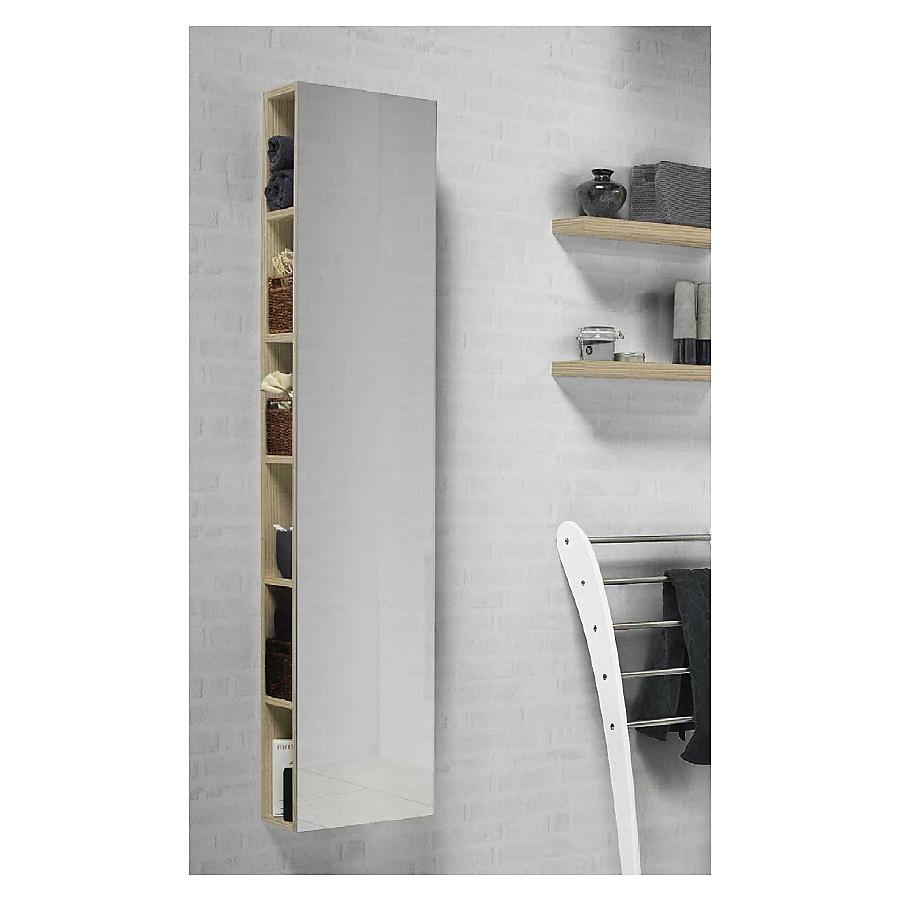 Dansani Inzo Reol m/speil 330x1600 mm Eik/speil