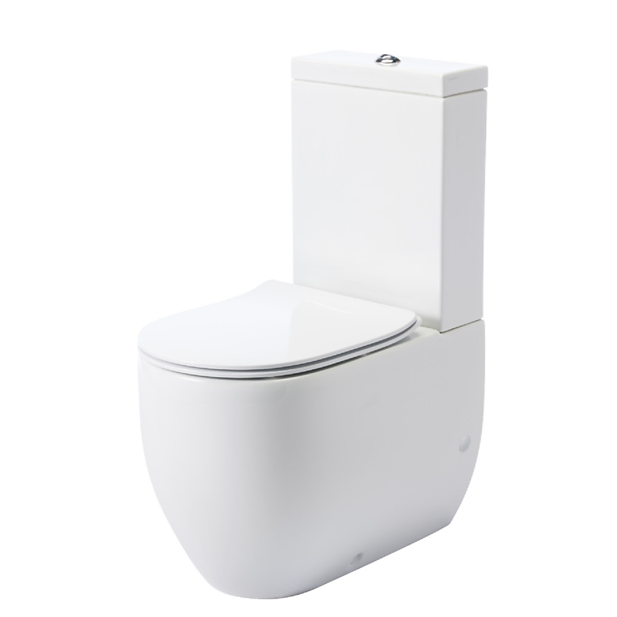 Lavabo Flo Slimline Gulvstående toalett 600x360 mm. m/myktluk. sete/lokk