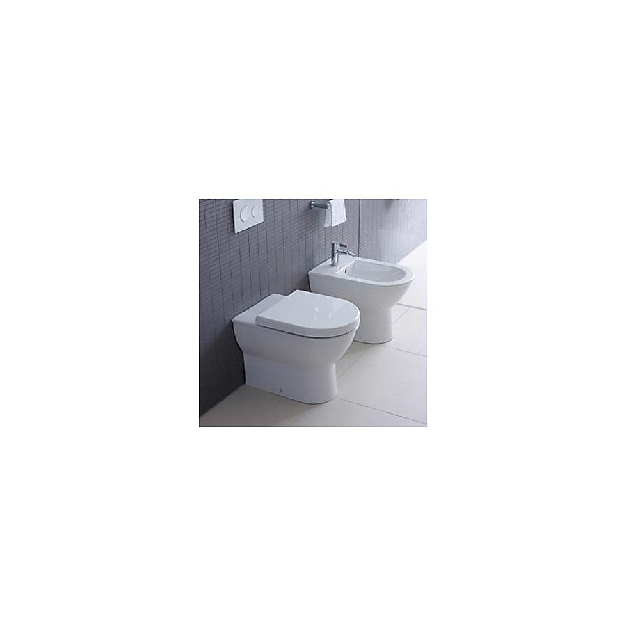 Duravit Darling New Gulvstående toalett 370x570 m/skjult avløp