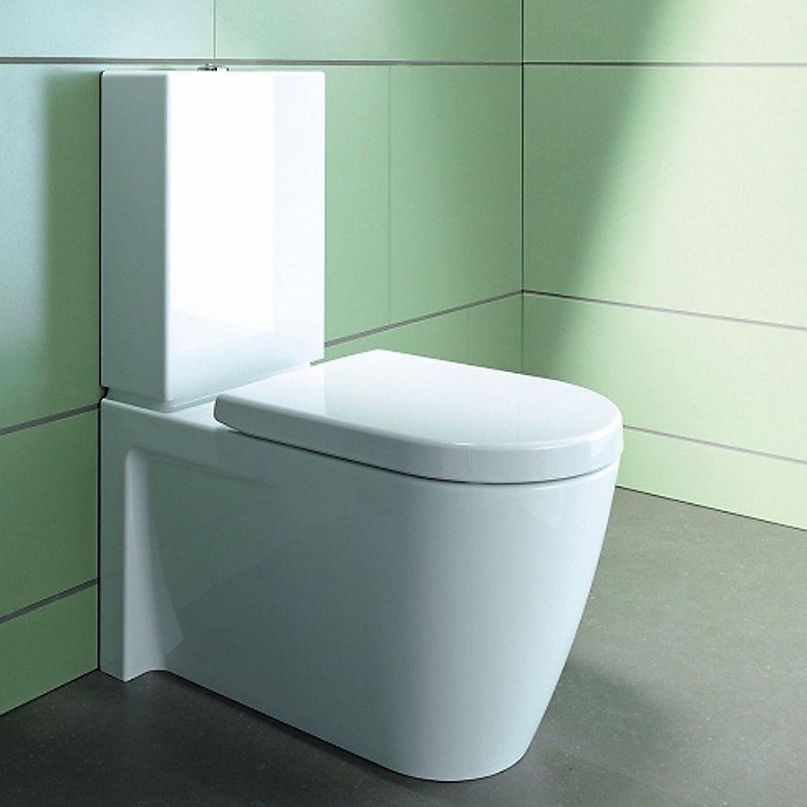 Duravit Starck 2 Gulvstående toalett Med sisterne og myktlukkende sete/lokk