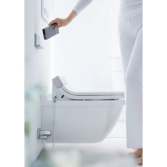 duravit sensowash starck c toalettsete med fjernkontroll. Black Bedroom Furniture Sets. Home Design Ideas