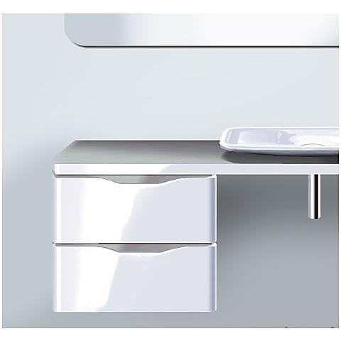 duravit pura vida underskap m 2 skuffer 460x550 mm h ndtak i aluminium. Black Bedroom Furniture Sets. Home Design Ideas
