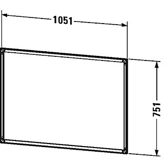 Duravit L Cube Speilskap F Innbygging 1000x700 Mm Med Led