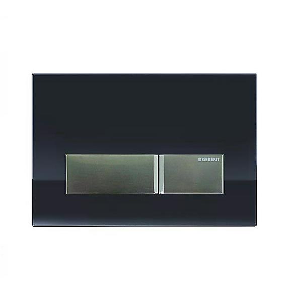 geberit sigma 40 betj ningsplatta til duofresh cistern svart glas. Black Bedroom Furniture Sets. Home Design Ideas