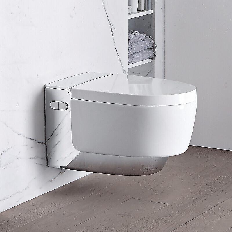 Geberit AquaClean Mera Comfort Vegghengt spyletoalett Hvit/Krom