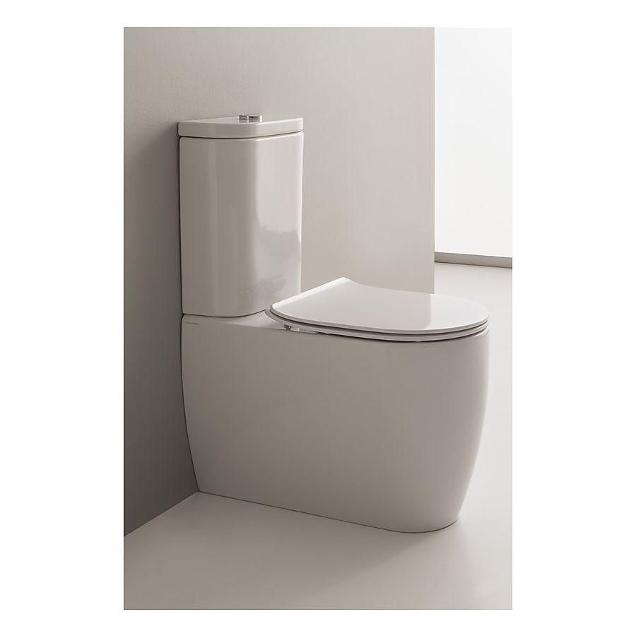 Scarabeo Moon Gulvstående toalett 660x360 mm Hvit