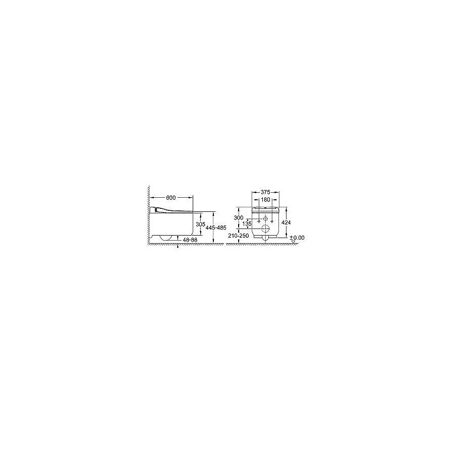 39354SH0 Grohe  Grohe Sensia® Arena Duschtoalett Med spolning och varmluftstork