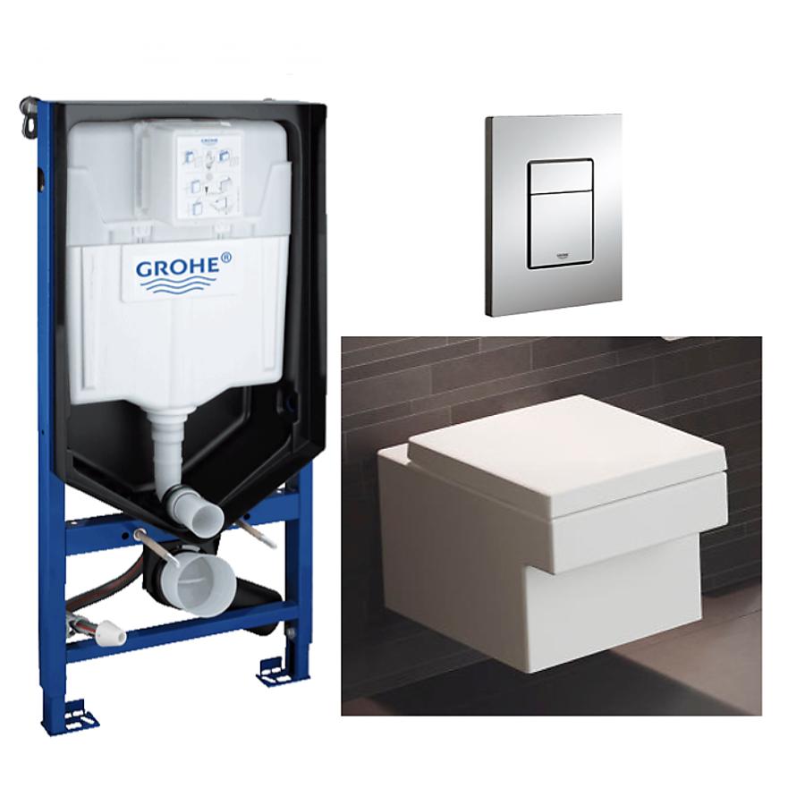 Grohe Cube Toalettpakke Inkl. sete/lokk sisterne og trykkplate.