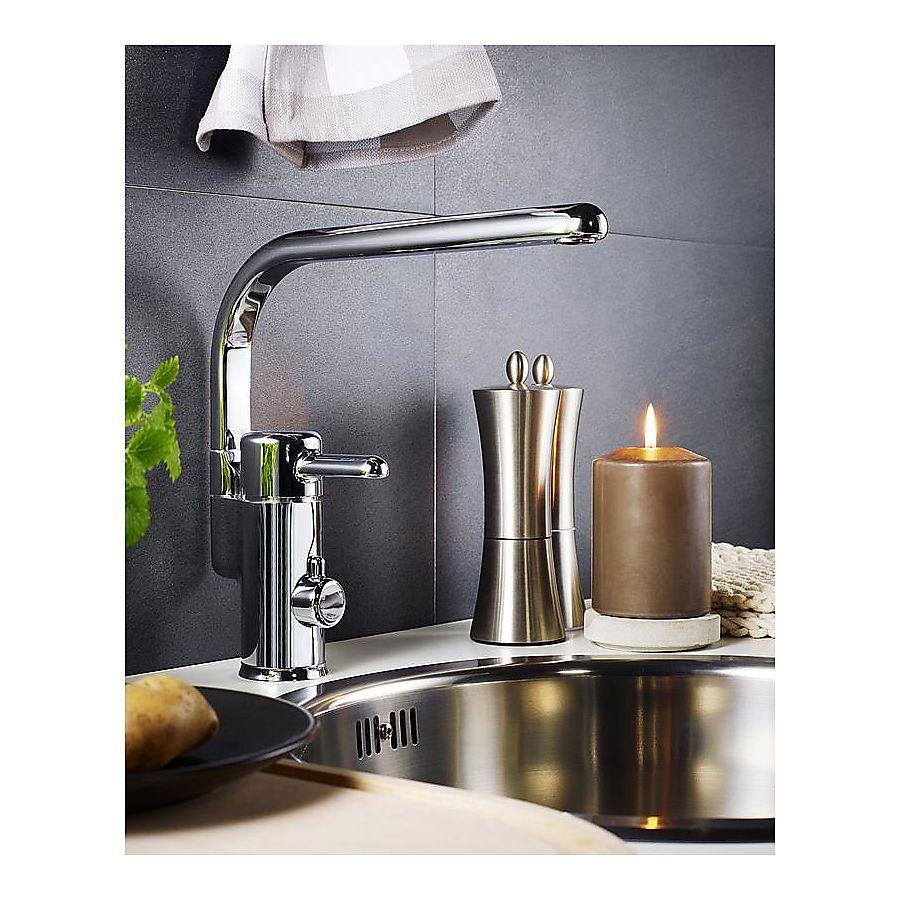 Gustavsberg Logic Kjøkkenarmatur Med avstegning til oppvaskmask Krom