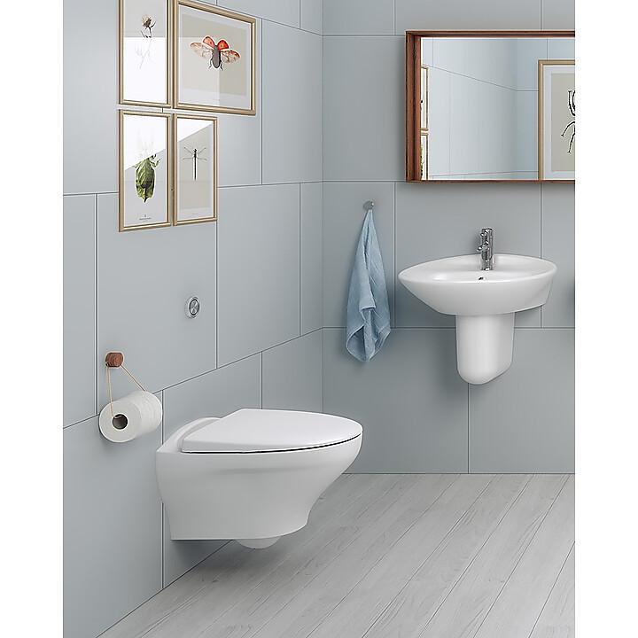 6023653 Gustavsberg 7763174 Gustavsberg Estetic 8330 Väggh. toalett Med Ceramic Plus, Vit Matt