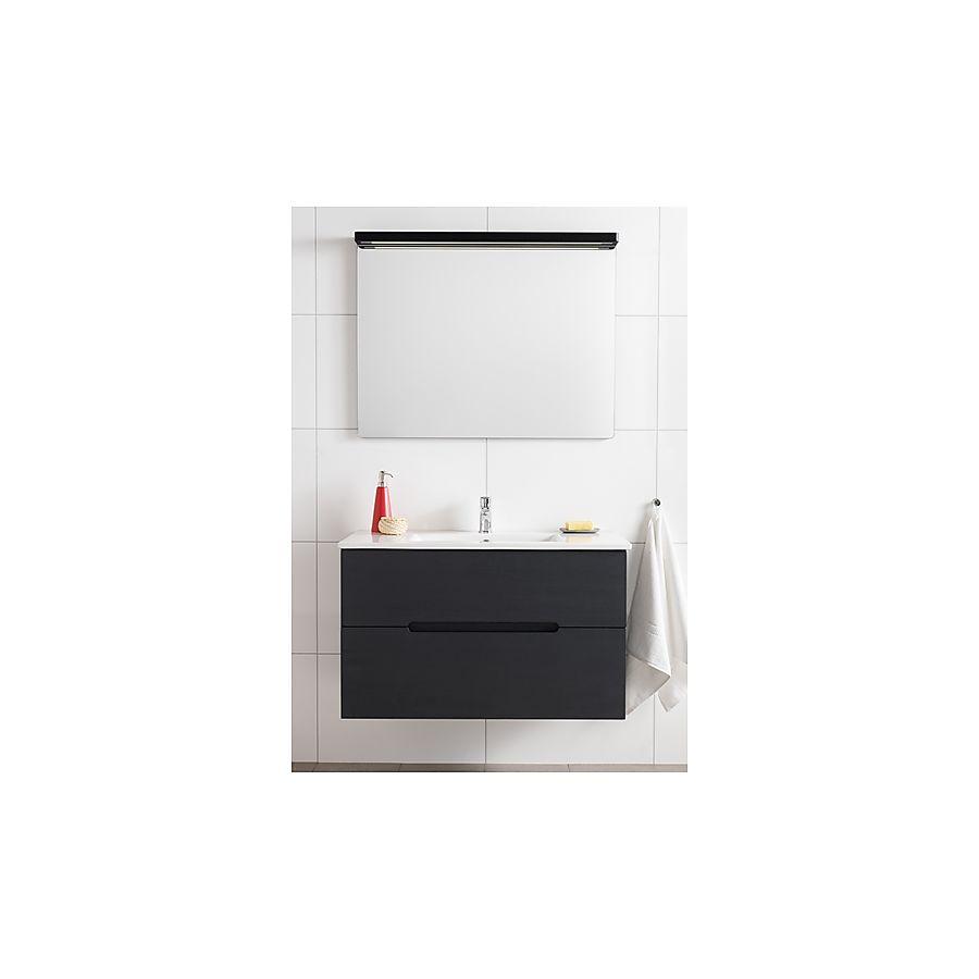 Hafa Sun 900 Komplett Møbelpakke 900 mm Servant/Speil Sort Eik Struktur