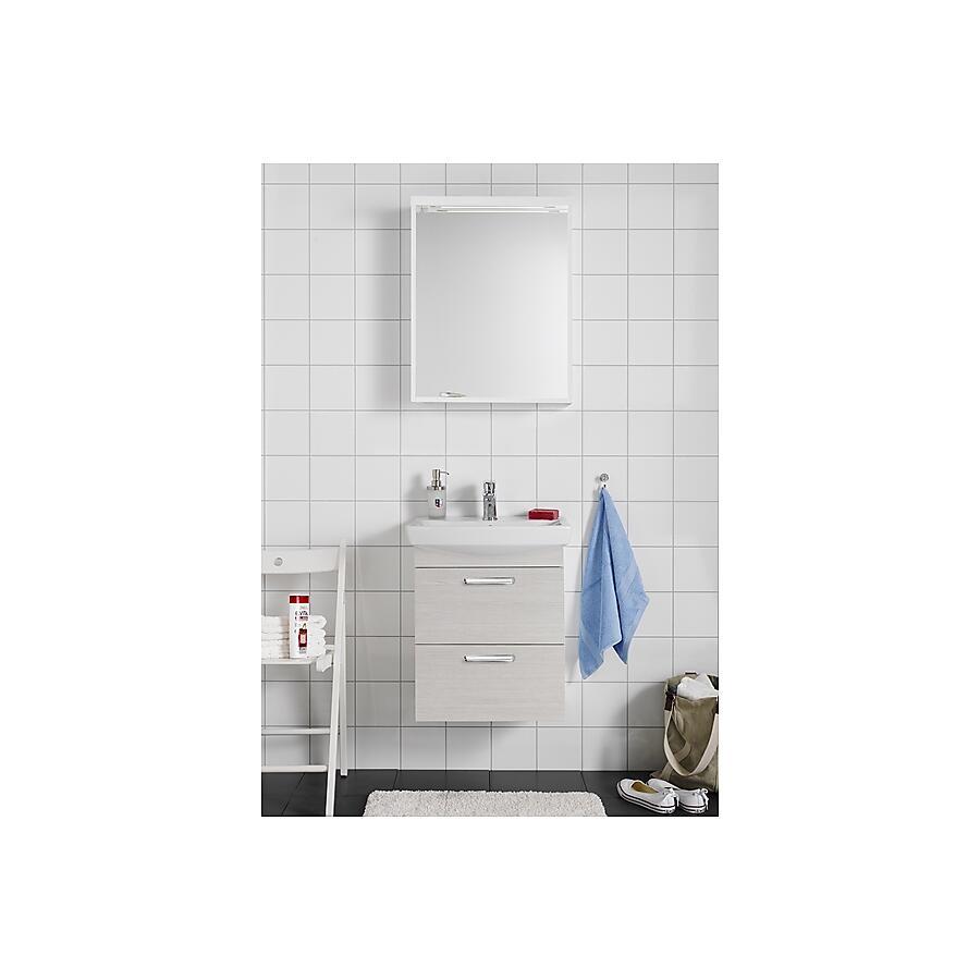 Hafa Life 700 Komplett Møbelpakke 700 mm m/speil og servant Hvit eik