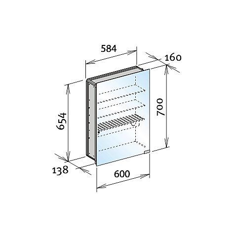 keuco royal modular spegelsk p 600x700 mm f r inbyggnad sentermodul. Black Bedroom Furniture Sets. Home Design Ideas