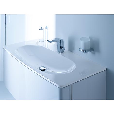 31680386800 Keuco  Keuco Elegance Tvättställskåp m/1 låda 1300x360 mm, Vit/Valnöt - Träfanér