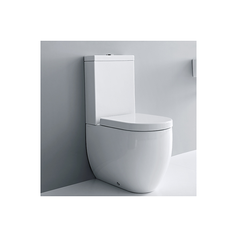 Lavabo Flo Gulvstående toalett 600x360 mm. m/myktlukkende sete/lokk