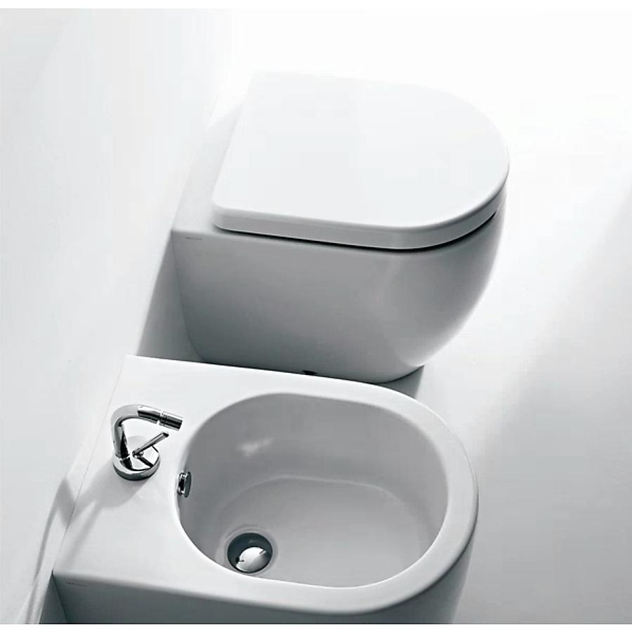 Lavabo Flo Gulvstående toalett 520x360 mm. m/myktlukkende sete/lokk