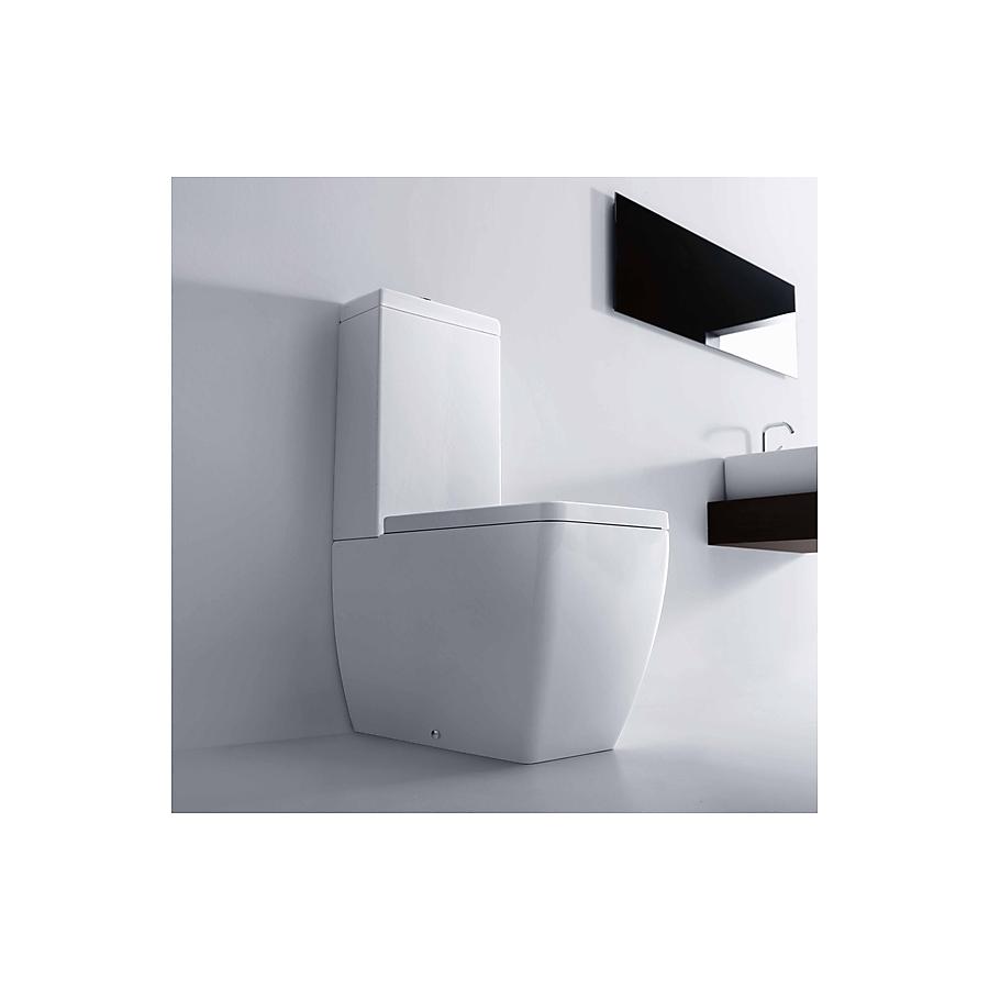 Lavabo Ego Gulvstående toalett 600x360 mm. m/myktlukende. sete/lokk