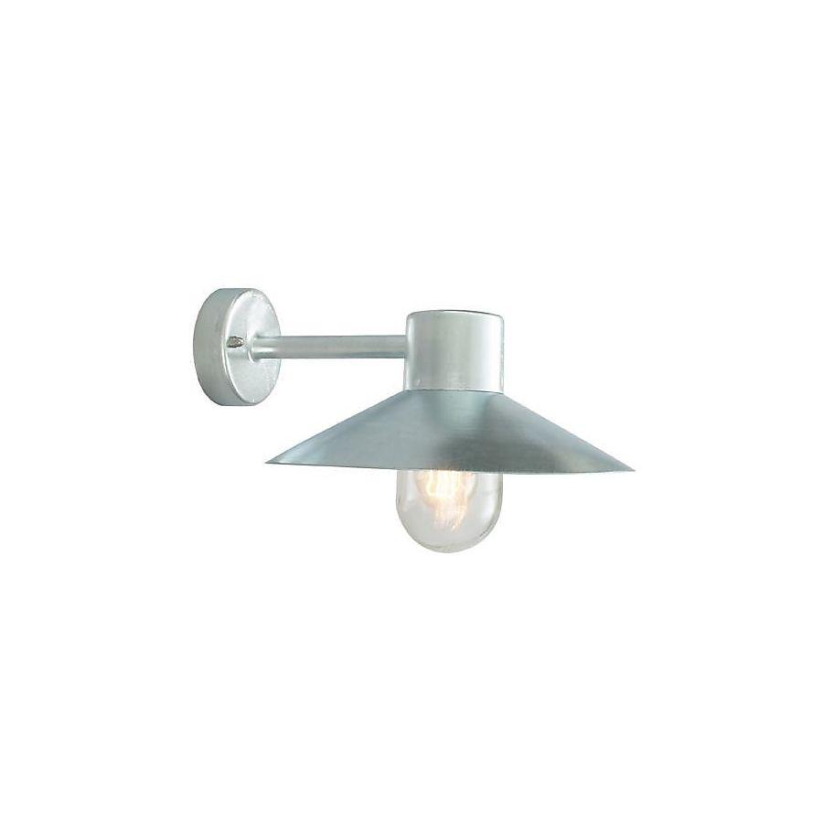 Norlys Lund Vegglampe Galvanisert, Klart Glass