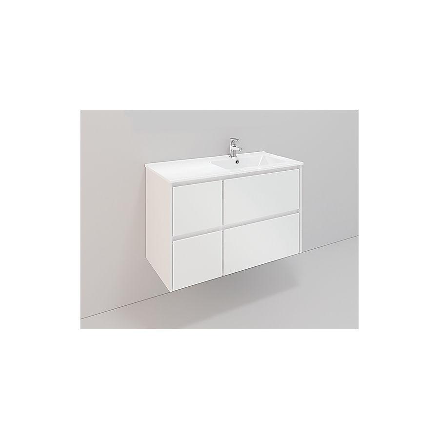 Noro Lifestyle 900 møbelpakke 900 mm m/lav servant høyre Hvit Matt
