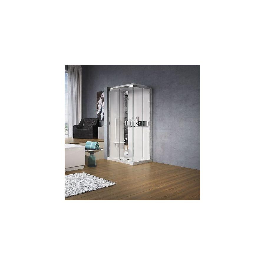 Novellini Glax 3 A Dusjkabinett 80x80 cm m/tak Klart glass/Krom