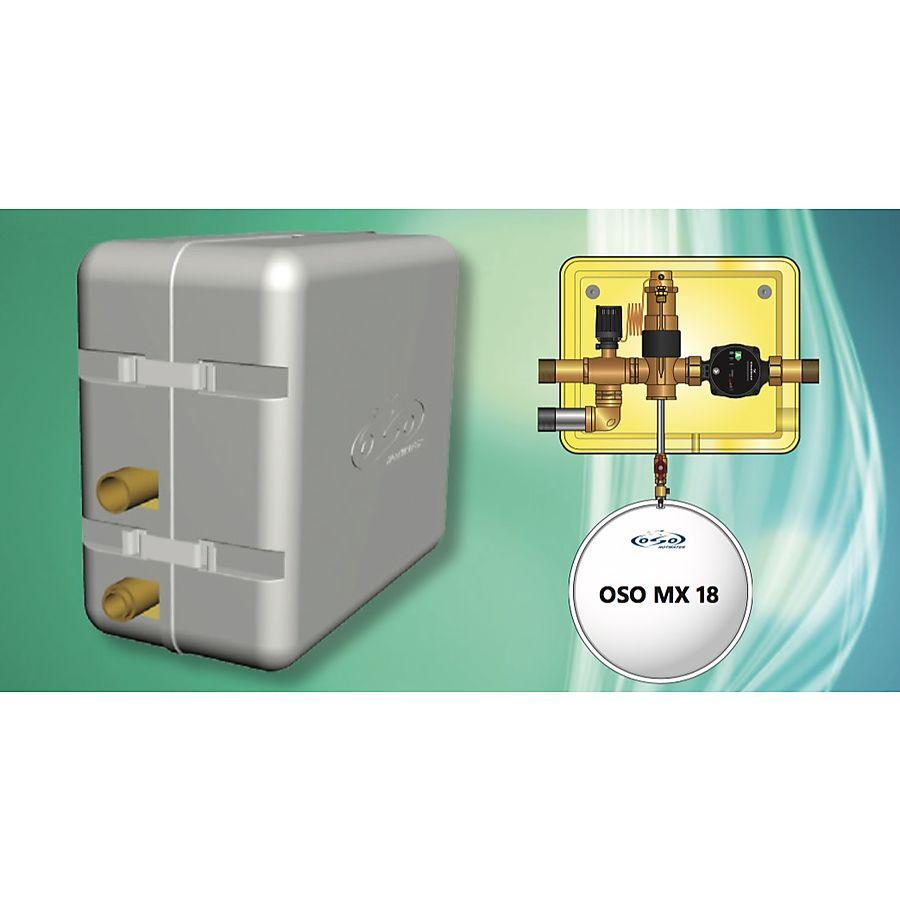 Oso Fix MX18 Montasjesentral 380x320 mm m/18 liter ekspansjonskar