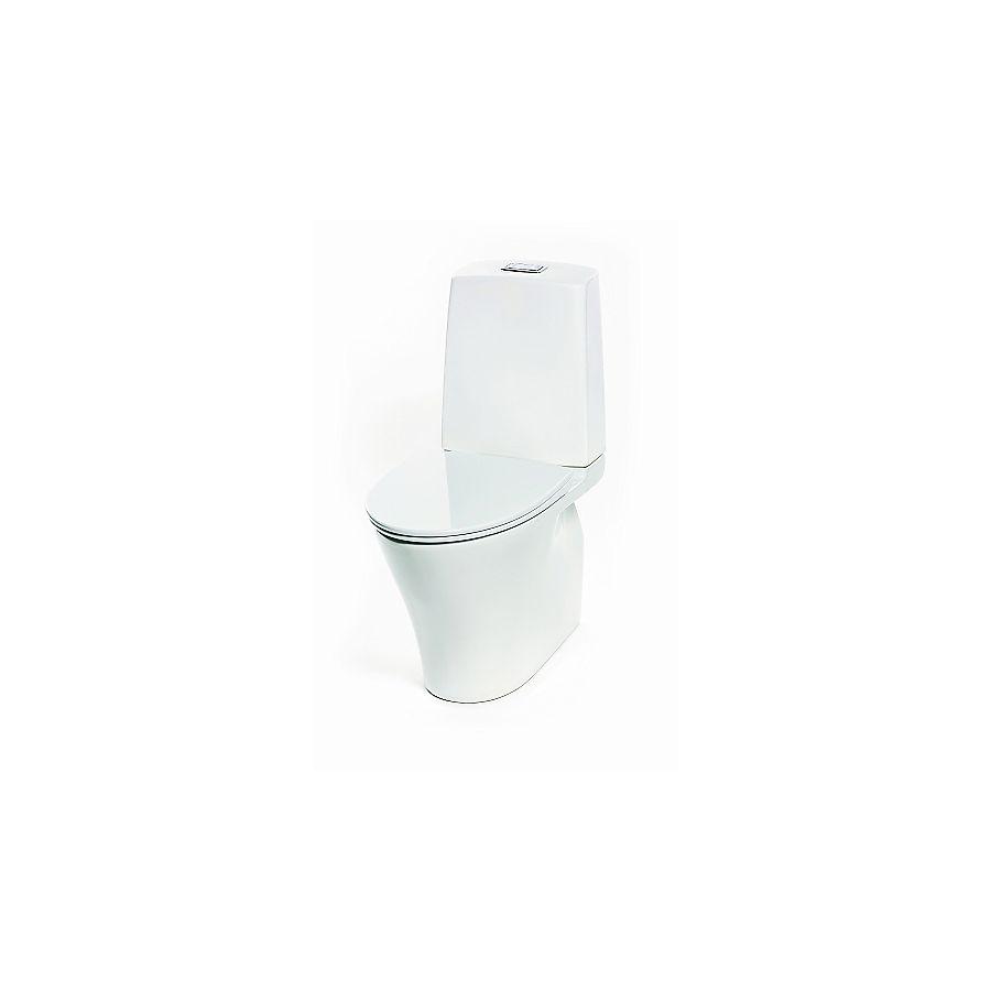 Porsgrund Glow Gulvstående toalett 650x355 mm Uten skyllekant