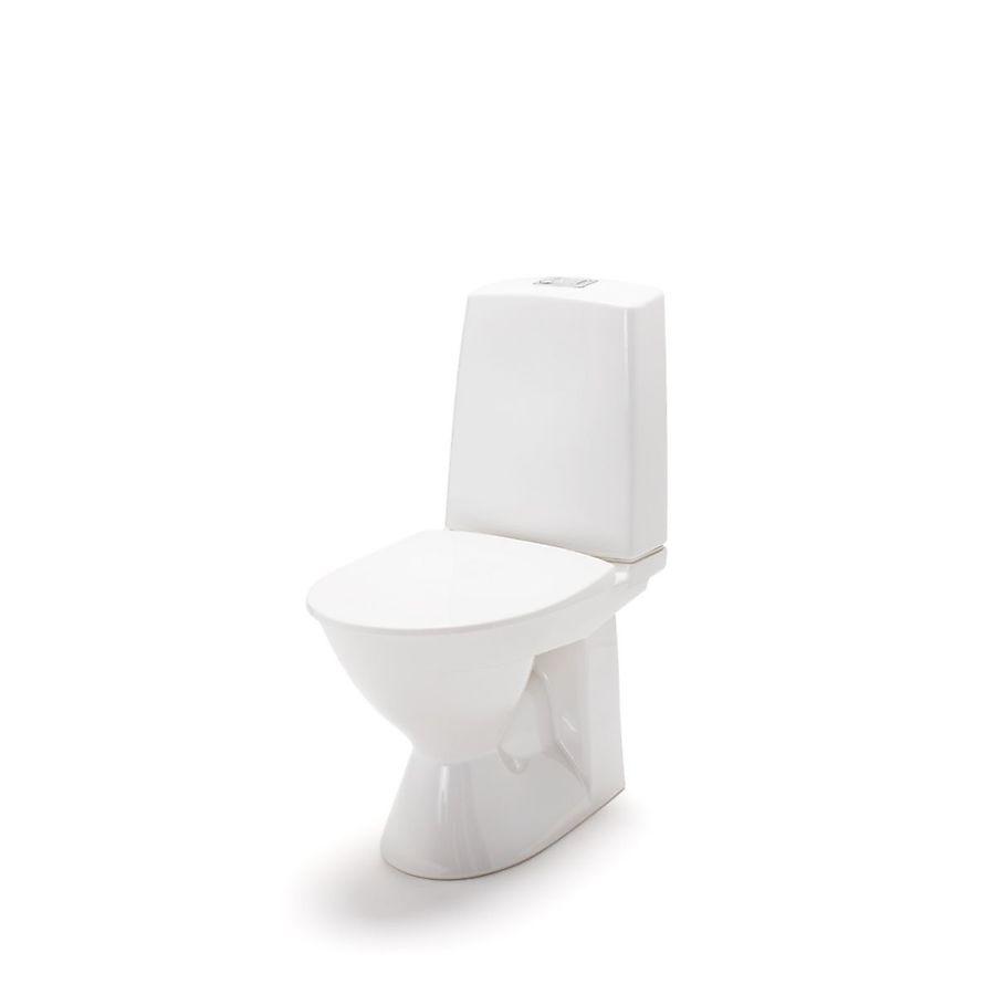 Porsgrund Glow 60 Gulvstående toalett 635x355 mm Skjult s-lås Rimfree