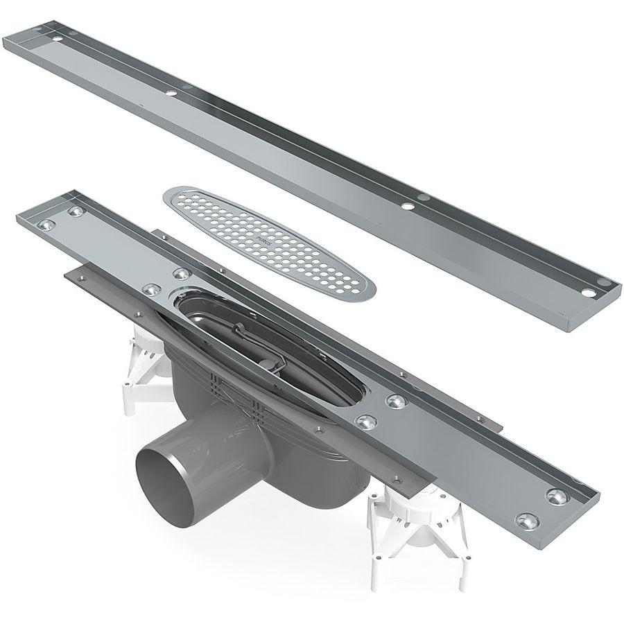 Purus Line Tile komplett slukpakke Sideutløp Ø 75 mm 600 mm