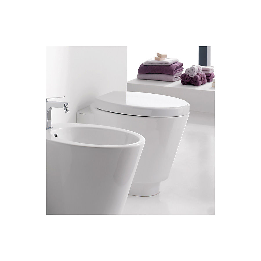 Scarabeo Wish Gulvstående toalett 570x350 mm. Hvit