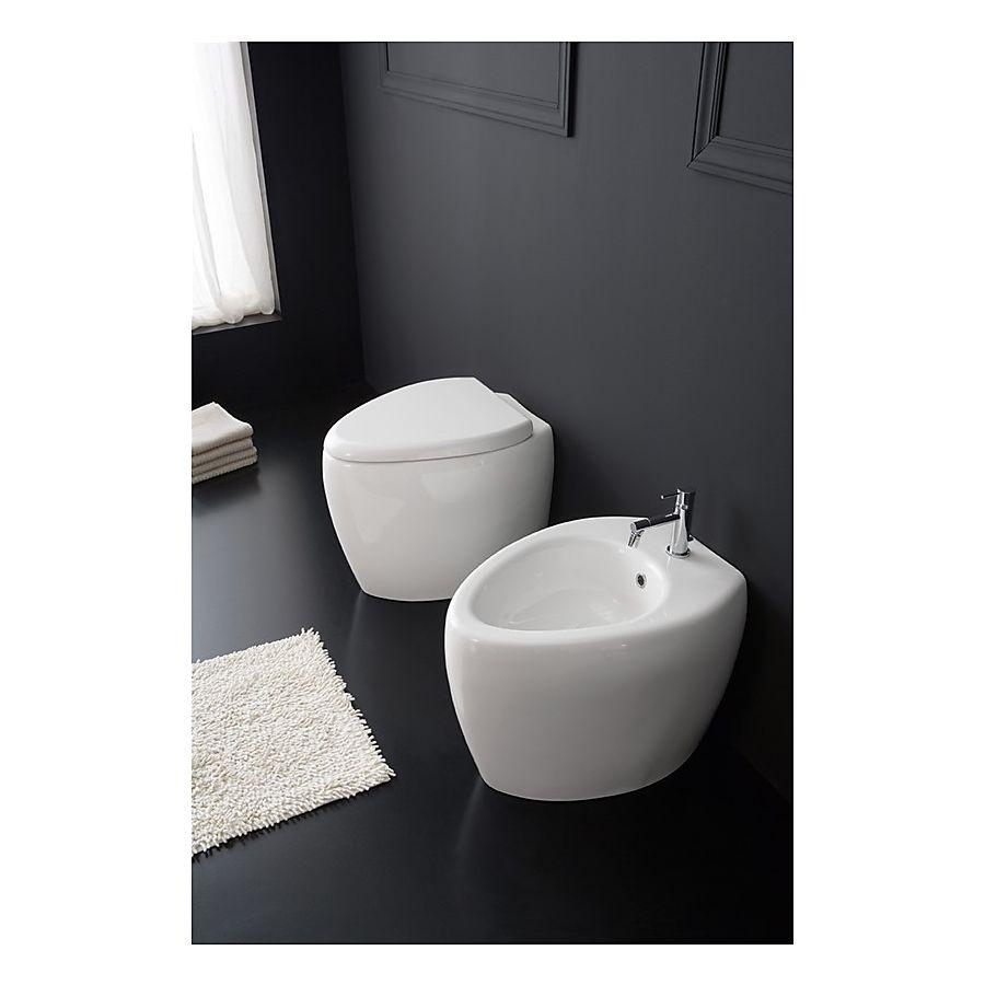 Scarabeo Moai Gulvstående toalett 550x410 mm. Hvit