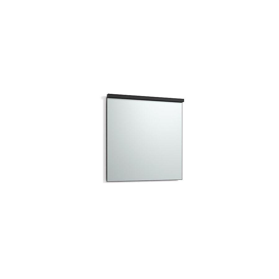 Svedbergs Imago Speil m/LED-lys 800x800 mm m/underlys Sort Matt