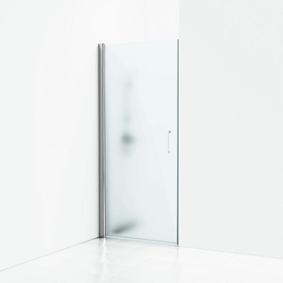 Svedbergs Forsa enkeldør for nisje 1005-103 cm Alu Blank/Frostet Glass